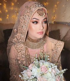 bridal jewelry for the radiant bride Hijabi Wedding, Muslimah Wedding Dress, Pakistani Wedding Outfits, Pakistani Wedding Dresses, Bridal Outfits, Wedding Abaya, Asian Wedding Dress, Bridal Hijab Styles, Pakistani Bridal Makeup