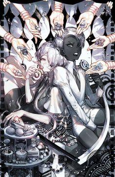 Ghost Quartz x Cairngorm Character Art, Character Design, Anime Land, Cool Drawings, Cute Art, Art Reference, Anime Characters, Manga Anime, Otaku