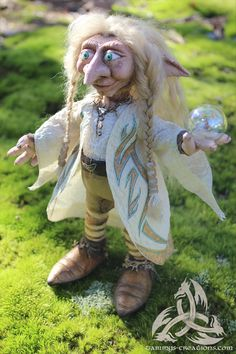 Tobler A Limited Edition Magical Troll Wizard OOAK by FairyWillow, $650.00