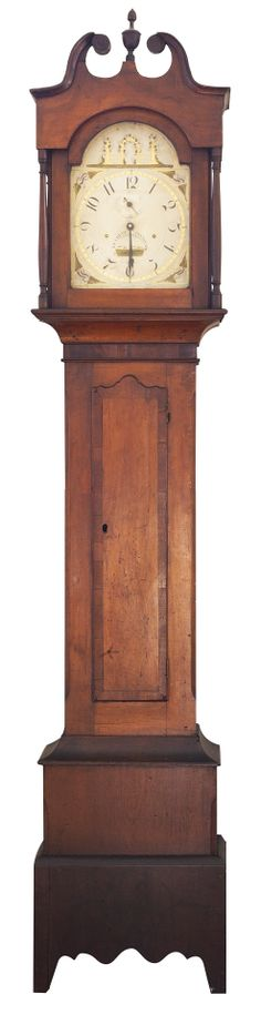 Tall Clock, case attributed to Elijah Warner, cherry with mahogany veneer, Lexington. Face by S. Connecticut History, 2nd Floor, Plymouth, Exhibit, Clocks, Kentucky, Cherry, Inspired, Face