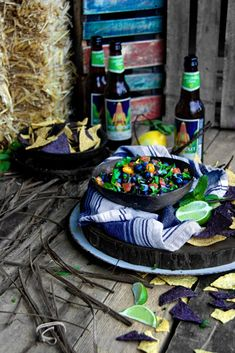 """Fresh. Zesty. Rustic. A sweet and spicy Gold Coast twist on a southwest classic. Blueberry and Mint Pico De Gallov  """"A Bachelor and His Grill"""""""