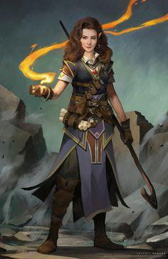 'pos'ly. a rare Erewan elf 'fire elementalist' (secret craft)  [Quark Master's Tumblr]