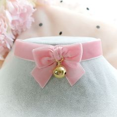 Choker Necklace ,Kitten Pet Play Collar ,Pink Black Lace Bow Bell Mini Rose Flo in Jewelry & Watches, Fashion Jewelry, Necklaces & Pendants Kawaii Jewelry, Kawaii Accessories, Cute Jewelry, Style Grunge, Soft Grunge, Kitten Play Collar, Tokyo Street Fashion, Le Happy, Accesorios Casual