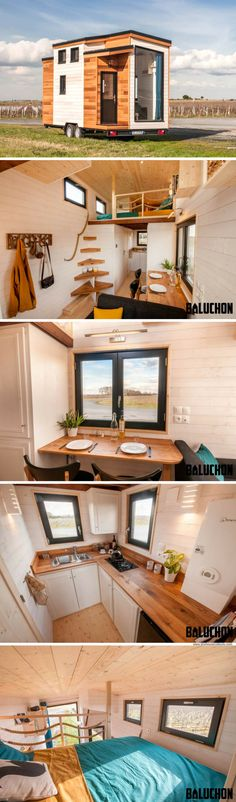 The Tiny House Utopia, by French tiny home builders, Baluchon