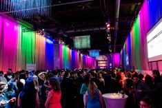 Designers used drapes and bright lights to warm up the reception space.  Photo: Courtesy of Special Olympics Canada