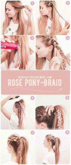 New Diy Easy Hairstyles For School 66 Ideas Super Easy Hairstyles, Easy Hairstyles For School, Summer Hairstyles, Cool Hairstyles, Wedding Hairstyles, Hairstyles Videos, African Hairstyles, Latest Hairstyles, Black Women Hairstyles