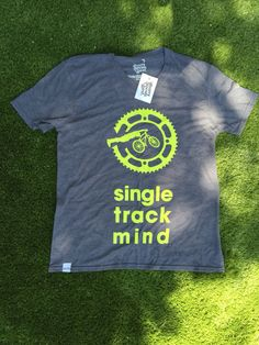 Our 'Single Track Mind' tshirt born on the trails of the keeps you cool and looking good out on the or just out Biker T Shirts, Chilling, Shirt Designs, Track, Mens Tops, Fashion, Moda, Runway, Fashion Styles