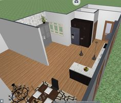 Renderings that show how the interior could be restored for a historic house