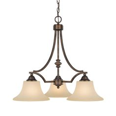 South Shore Decorating: Capital Lighting 4023RT-109 Towne & Country Transitional 3-Light Chandelier CP-4023RT-109