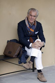 Image lifted from The Sartorialist blog. I love a perfectly and uniquely styled older man. He inspires my inner sartorialist more than any fashion magazine or trend.