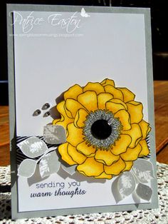 Love how the yellow flower pops on this card! So pretty!