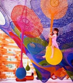 Crocheted sculptures that kids can play on, by artist Toshiko Horiuchi MacAdam
