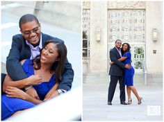 Colorful engagement session