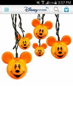 Mickey Mouse Halloween Lights.