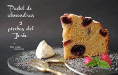 Tía Alia Recetas: Pastel de almendras y picotas del Jerte