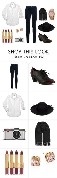 """""""Hipster Revival"""" by gbrunson on Polyvore featuring AG Adriano Goldschmied, Spring Step, Leica, BeckSöndergaard, tarte, Tory Burch and Rolex"""