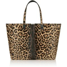 Victoria Beckham Leopard-print calf hair tote ($2,650) ❤ liked on Polyvore featuring bags, handbags, tote bags, bolsa, leopard print, purse, black tote bag, leopard print handbags, black purse and black handbags