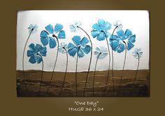 Original Modern Fine Art Heavy Textured Acrylic by shannacreations, $289.00