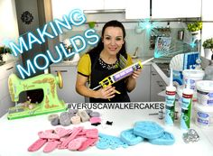 How to make moulds with silicone or leftover fondant.