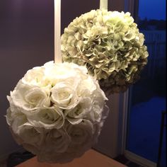 DIY flower balls for wedding