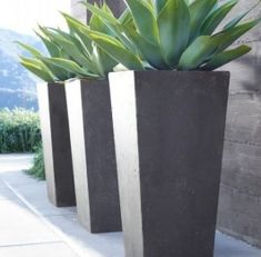 Modern Outdoor Plant Pots Rh Source Books Do Something Singular And Striking Like This In Tall Planters For Front Part Shade Or Patio Full Sun Contemporary Pots For Plants Contemporary Outdoor Plants Large Outdoor Planters, Stone Planters, Tall Planters, Modern Planters, Concrete Planters, Outdoor Pots And Planters, Rectangular Planters, Backyard Planters, Garden Container