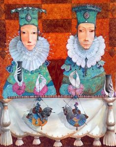 """Made by: Merab Gagiladze , """"Affair of Honor"""" - (Marionette knights on horses dolls)"""