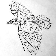 Geometry Crow Tattoo Design More