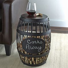 """Great way to store your corks- and memories of great wine with family and friends. Love it."" - Sonja O, CA"