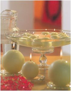 decorar con velas flotantes