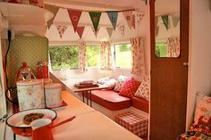 Cottage Hill: My Vintage Camper--I TOTALLY want to remodel a camper like this! SO cute I can't even stand it!