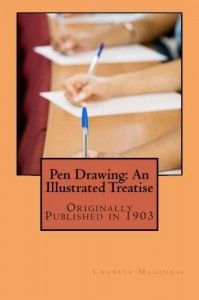 Pen Drawing: An Illustrated Treatise was originally published in 1903 by Charles D. McGinnis and is a wonderful resource for pen and ink artists. This is a reproduction from an original copy of the book which I found to be very clear and easy to read. Fun book with many great lessons.