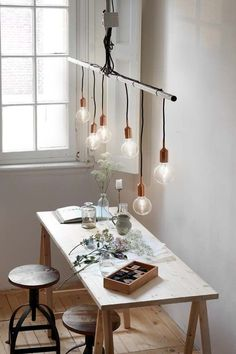 Get light into your home! – Collection os lamps for your home Living Tv, Home And Living, Interior Inspiration, Design Inspiration, Dining Room Lighting, Led Lampe, Home Projects, Decoration, Home Kitchens