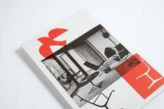 Miller House & Garden – Everything Type Company Eames Furniture, Furniture Ads, Vintage Furniture, Furniture Brochure, Miller Homes, Cover Pages, Editorial Design, Branding Design, Modern Design