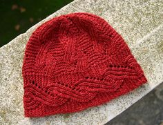 knitted cabled hat pattern - Google Search