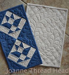 """Thread Head""  Mini-quilts for AAQI"