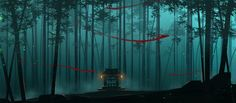 bamboo forest spirits by sheer-madness on DeviantArt Fantasy Forest, Forest Art, Environment Concept Art, Environment Design, Fantasy Landscape, Landscape Art, Bamboo Background, Game Background, Background Ideas