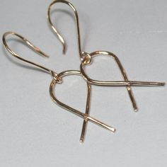 Jesus Fish Earrings Ichthus 14k Gold Fill by MaggieMcManeDesigns, $22.00