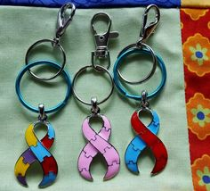 Ships free: Large Pink Breast Cancer  Red by BlingItOutLoudCharms