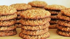 Banana Oatmeal Cookies, Oatmeal Cookie Recipes, Sugar Free Desserts, Banana Bread, Muffin, Food And Drink, Low Carb, Biscuit, Snacks