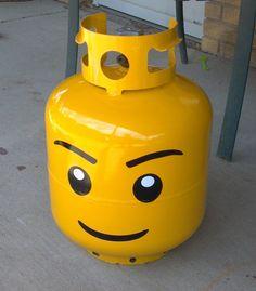 Lego Head Grill Propane Tank Kit. $10.00, via Etsy.