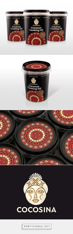 CocoSina Brand & #Coconut Cooking #Oil #packaging designed by The Fount - http://www.packagingoftheworld.com/2015/03/cocosina-brand-coconut-cooking-oil.html