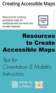 Pinterest collage to create accessible maps