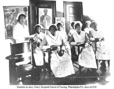 Students, Mercy Hospital School of Nursing, Philadelphia PA. class of 1929. Image courtesy of the Barbara Bates Center for the Study of the History of Nursing.
