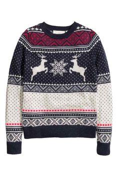 Jaquard kötésű pulóver | H&M