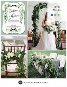 A lush green nature themed wedding is so prominent right now for Spring and Summer, and we are seeing this foliage trend carry over year after year. #wedding
