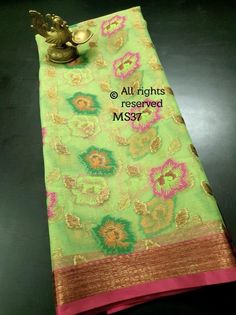 Organza Weaves with embroidery! **The World of Pure Fabrics**   Organza Saree, Silk Sarees, Weaving, Messages, Pure Products, Chandigarh, Embroidery, Mumbai, Singapore