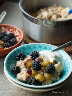 Herbstfrühstücksliebe Porridge