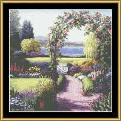 English Garden Collection - English Garden V [BF-89] - $16.00 : Mystic Stitch Inc, The fine art of counted cross stitch patterns