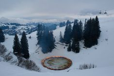 A Ring of Fire Is Installed in The Swiss Alps Douglas Gordon and Morgane Tschiember had juxtaposed a fiery installation amidst the white, snowy landscape of the Swiss Alps. [[MORE]]The sculpture is a. Douglas Gordon, Summit Meeting, Red Right Hand, Primal Fear, Colossal Art, Wallpaper Magazine, Swiss Alps, Mountain Landscape, Adventure Is Out There