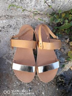 177e9689f4a Authentic Greek Sandals with gold straps and white soles